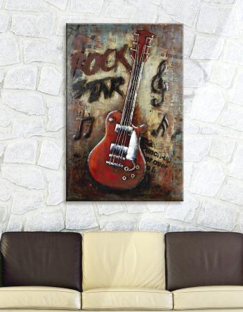 Tablou ROCK, metal, 50x4x75 cm [1]