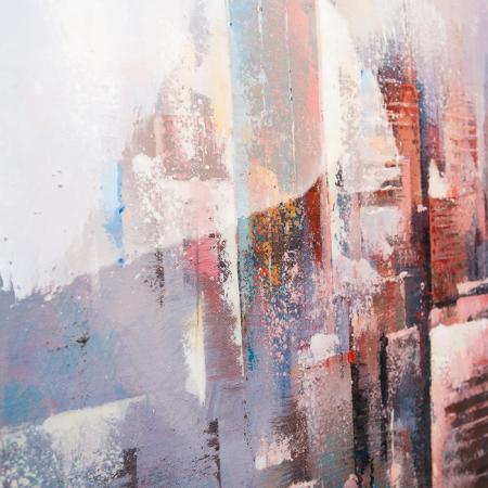 Tablou SKYLINE, panza, 140x70x3.5 cm3