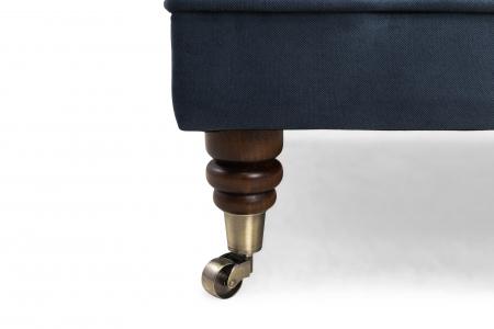 Taburet  Chesterfield, Albastru petrol, 70x32x70 cm4