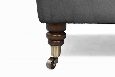 Taburet  Chesterfield , Gri, 70x32x70 cm4