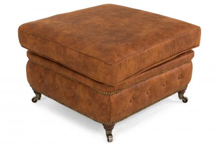 Taburet  Chesterfield, Maro coniac , 75x45x70 cm0