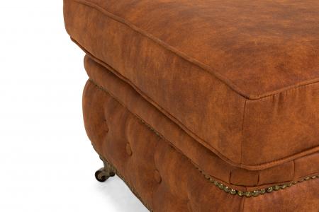 Taburet  Chesterfield, Maro coniac , 75x45x70 cm4