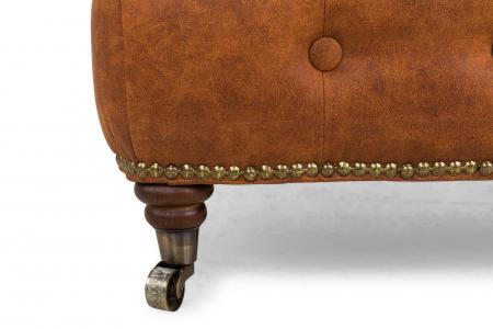 Taburet  Chesterfield, Maro coniac , 75x45x70 cm3