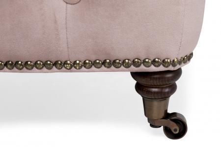 Taburet  Chesterfield, Roz, 75x45x70 cm2