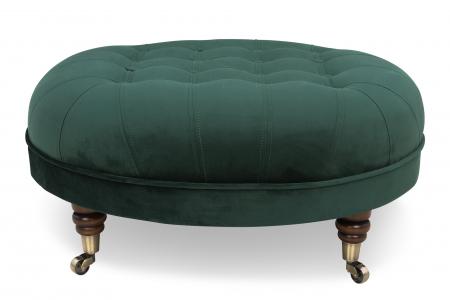 Taburet  Chesterfield, Verde inchis, 80x32x80 cm2