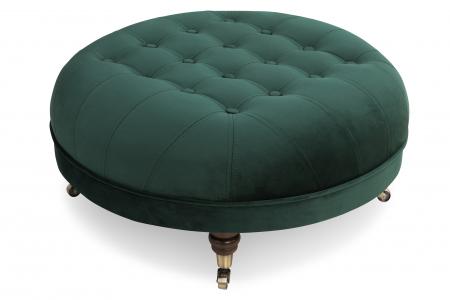 Taburet  Chesterfield, Verde inchis, 80x32x80 cm0