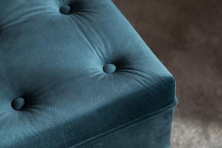 Taburet  Diana, Albastru verzui, 70x44x70 cm5