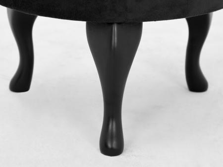 Taburet  Diana, Negru, 50x44x44 cm4