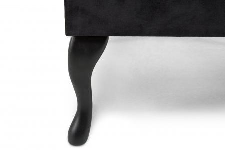 Taburet  Diana, Negru, 70x44x70 cm2