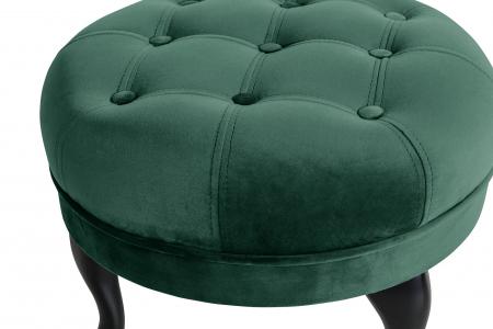 Taburet  Diana, Verde inchis, 50x44x44 cm2
