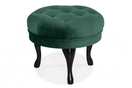 Taburet  Diana, Verde inchis, 50x44x44 cm0