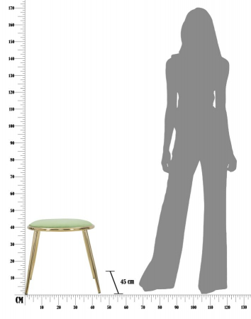 Taburet EMILY, verde, 45X45 cm, Mauro Ferretti7