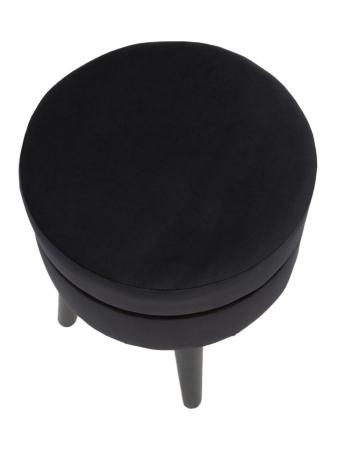 Taburet PARIS, negru, 35X40.5 cm, Mauro Ferretti5