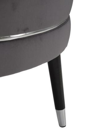 Taburet Paris XXL, lemn de pin/metal/plastic/burete/poliester, gri/negru, 90X46 cm5