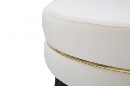Taburet Paris XXL, lemn de pin/metal/plastic/burete/poliester, multicolor, 90X46 cm5