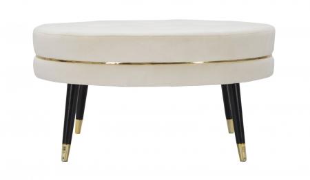 Taburet Paris XXL, lemn de pin/metal/plastic/burete/poliester, multicolor, 90X46 cm2