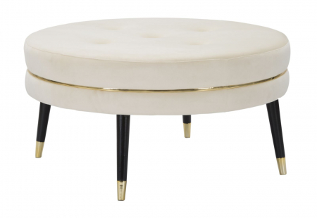 Taburet Paris XXL, lemn de pin/metal/plastic/burete/poliester, multicolor, 90X46 cm1