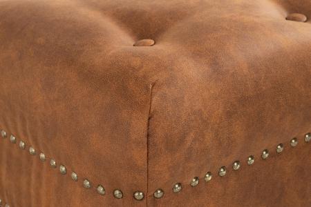 Taburet pentru picioare Clara, Maro coniac, 60x40x50 cm3