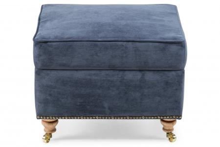 Taburet pentru picioare Veneta, Albastru petrol, 55x40x45 cm1