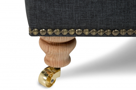 Taburet pentru picioare Veneta, Gri inchis, 55x40x45 cm2