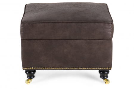 Taburet pentru picioare Veneta, Maro, 55x40x45 cm0