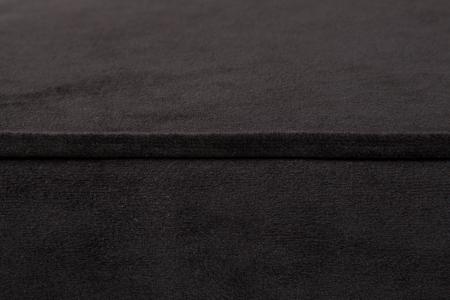 Taburet pentru picioare Veneta, Negru, 55x40x45 cm3