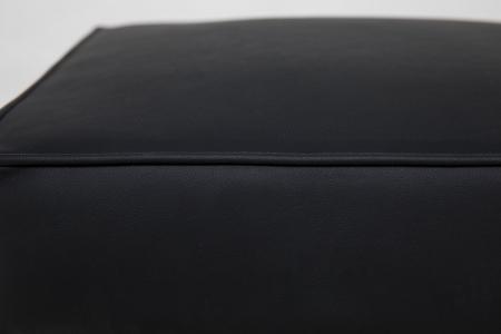 Taburet pentru picioare Veneta, Negru, 55x40x45 cm4