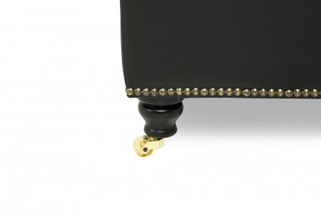 Taburet pentru picioare Veneta, Negru, 55x40x45 cm2