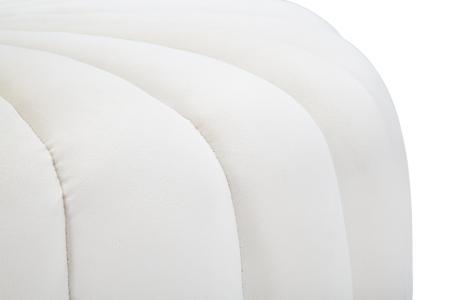 Taburet Shell, lemn de pin/metal/plastic/poliester, crem,  80X54X42 cm6