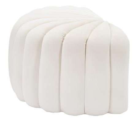 Taburet Shell, lemn de pin/metal/plastic/poliester, crem,  80X54X42 cm2