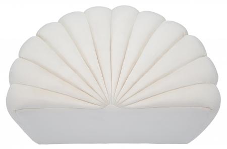 Taburet Shell, lemn de pin/metal/plastic/poliester, crem,  80X54X42 cm5