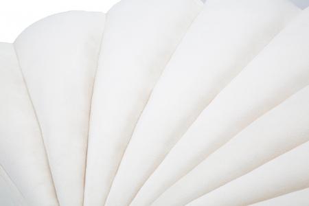 Taburet Shell, lemn de pin/metal/plastic/poliester, crem,  80X54X42 cm3
