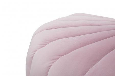 Taburet Shell, lemn de pin/metal/plastic/poliester, roz,  80X54X42 cm7