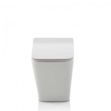 Toaleta montata pe podea SQUARE, Ceramica, Alb,  56x36x40 cm2