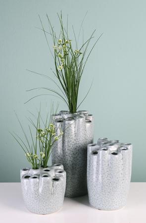 Vaza HOLES, ceramica, 25x14 cm1
