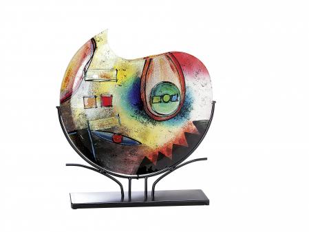 Vaza CONFUSO, sticla, 11x49x47 cm0