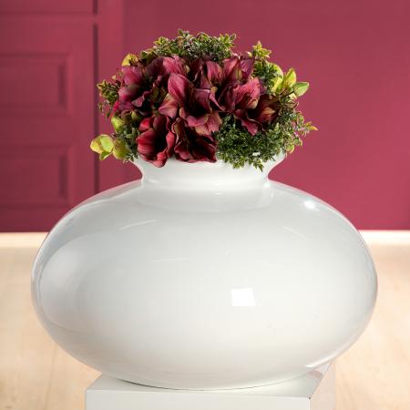 Vaza decorativa BIANCO, fibra de sticla, 60 x 40 cm0