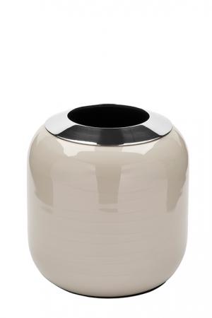 Vaza DIPA, otel inoxidabil/email, crem, 14x14 cm0