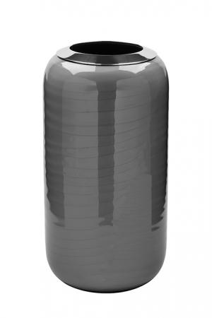 Vaza DIPA, otel inoxidabil/email, gri, 26x13 cm0