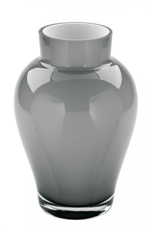 Vaza GOYA, sticla, gri, 22x15 cm0