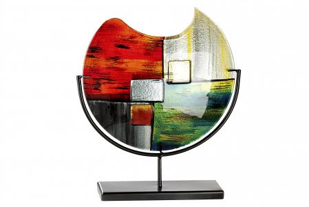 Vaza MIRANO, sticla/metal, 32x37x10 cm1