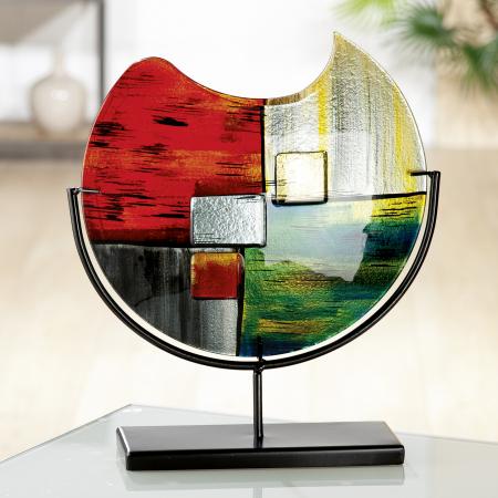 Vaza MIRANO, sticla/metal, 32x37x10 cm0