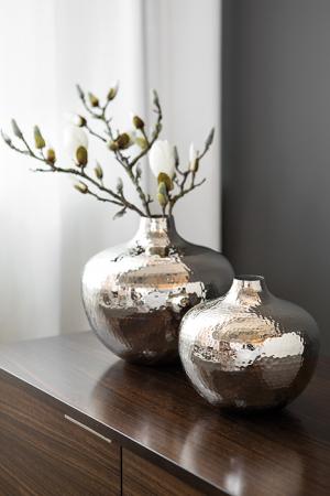 Vaza PALLAS, metal/nichel, 25x27 cm1