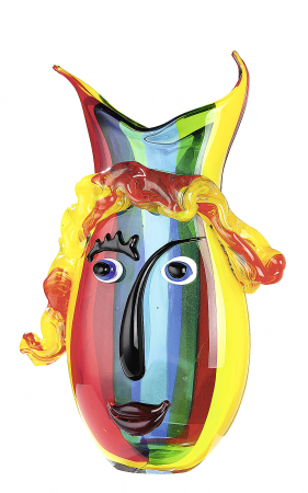 Vaza RAINBOW, sticla, 23x10x37 cm1