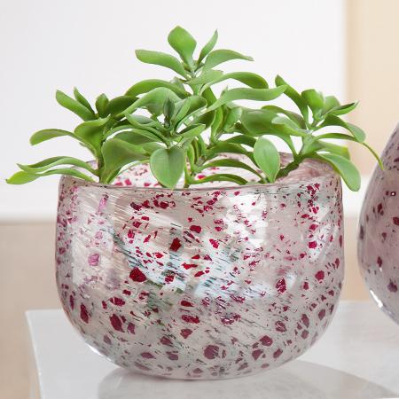 Vaza ROSE, sticla, 22x14.5 cm0