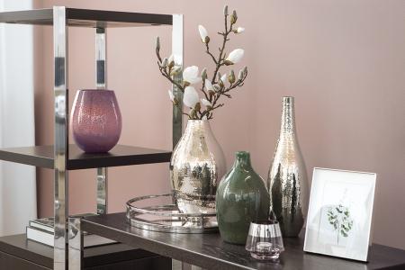 Vaza SILVA, sticla, verde, 20x19 cm2