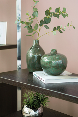 Vaza SILVA, sticla, verde, 20x19 cm1