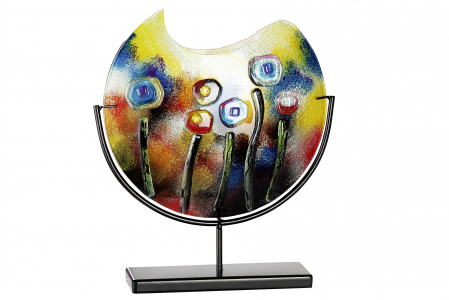 Vaza FRESH FLOWERS, sticla, 45x11x48 cm0
