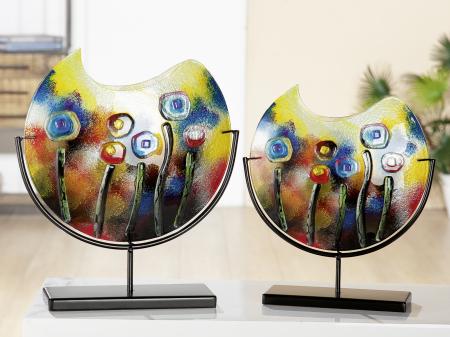 Vaza FRESH FLOWERS, sticla, 45x11x48 cm1