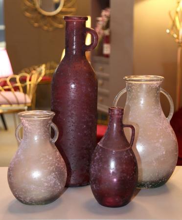 Vaza sticla reciclata BORDEAUX (cm) 13X50 7
